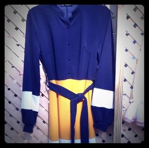 Color block maxi dress xs